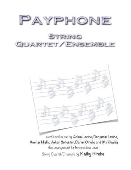 Payphone - String Quartet/Ensemble