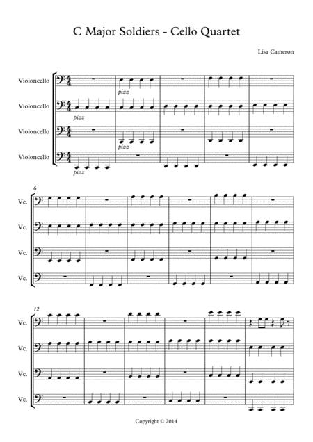 C Major Soliders - Cello Quartet