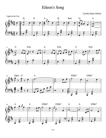 Eileen's Song - an original Waltz by Cynthia Marie