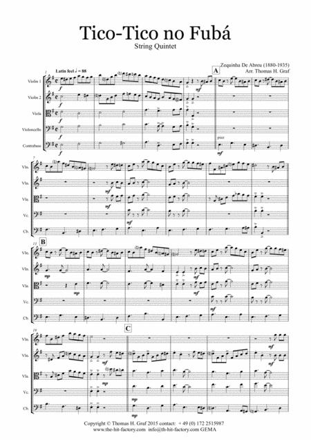 Tico-Tico no Fubá - Choro - String Quintet