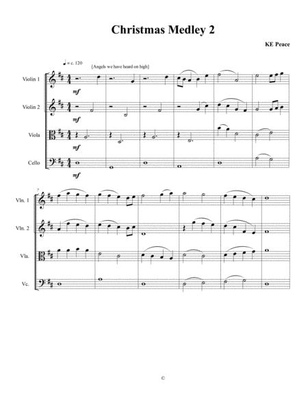 A Second Christmas Medley for String Quartet