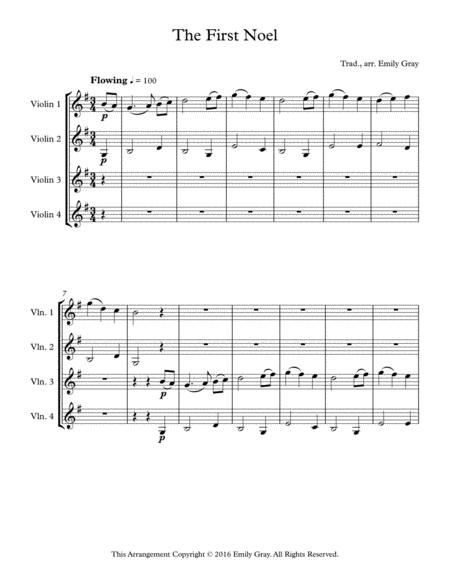 The First Noel - 4 Violins