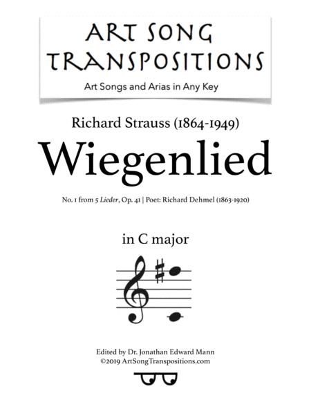 Wiegenlied, Op. 41 no. 1 (C major)