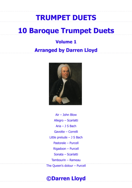 Trumpet duets - 10 Baroque Trumpet duets - Volume 1
