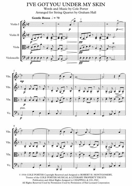 I've Got You Under My Skin for String Quartet