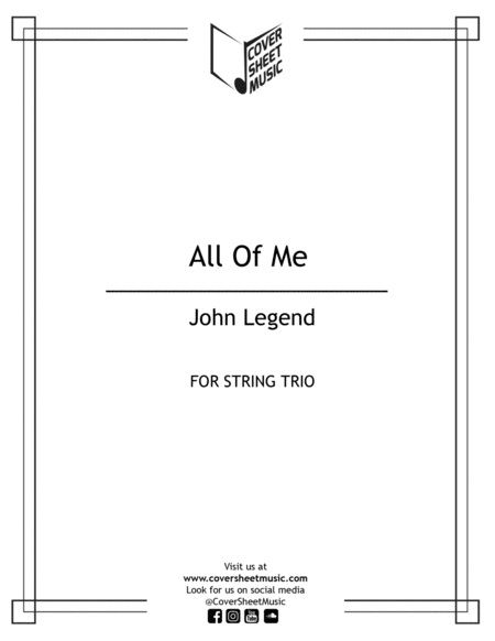All Of Me Jhon Legend String Trio