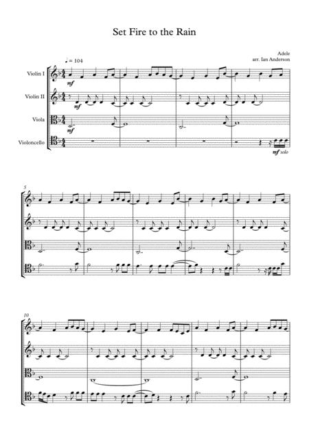 Set Fire To The Rain (string quartet)