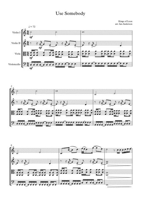 Use Somebody (string quartet)