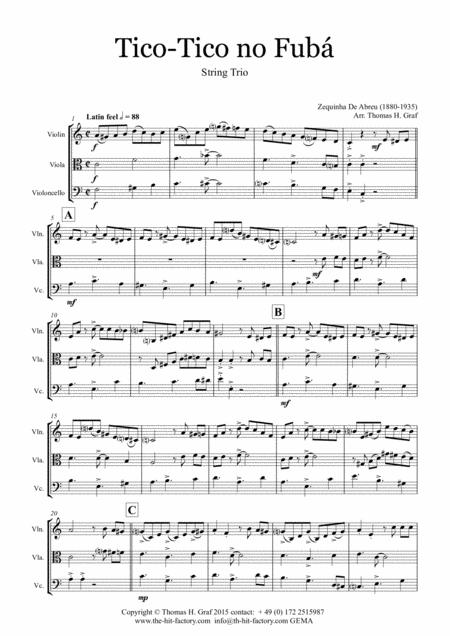 Tico-Tico no Fubá - Choro - String Trio