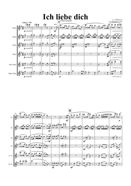 Ich liebe dich - Beethoven goes Polka - Clarinet Quintet