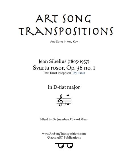 Svarta rosor, Op. 36 no. 1 (D-flat major)