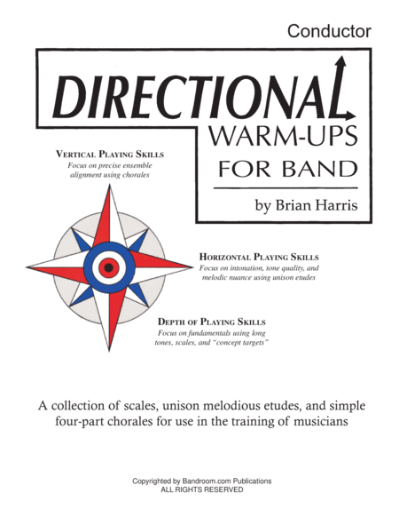 Directional Warm-Ups for Band (concert band method book) - FULL CONDUCTOR SCORE