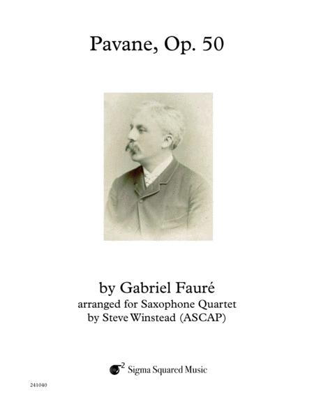 Pavane, Op. 50 for Saxophone Quartet
