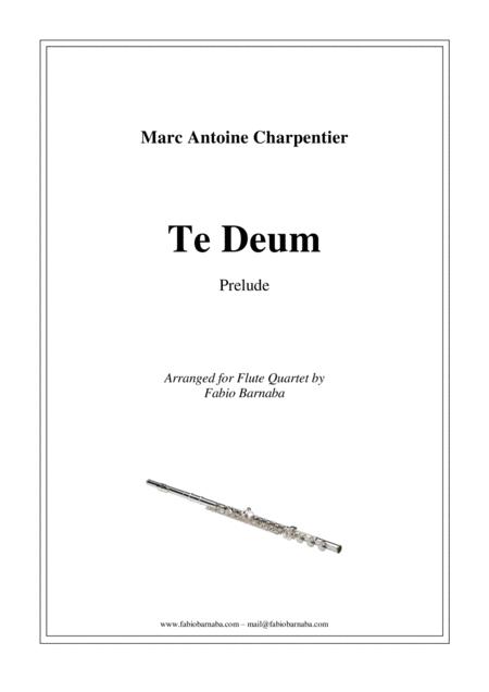Te Deum - Prelude for Flute Quartet or Flute Choir