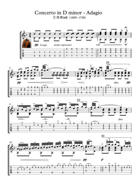 Bach for guitar BWV 974 Adagio