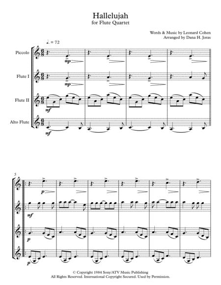 Hallelujah for Flute Quartet
