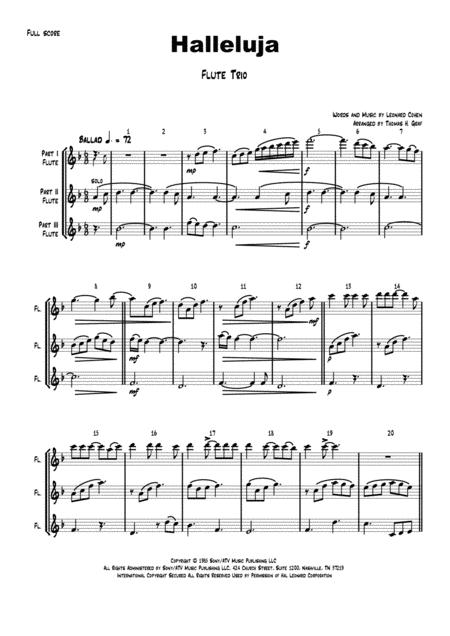 Halleluja - sophisticated arrangement of Cohen's Classic - Flute Trio