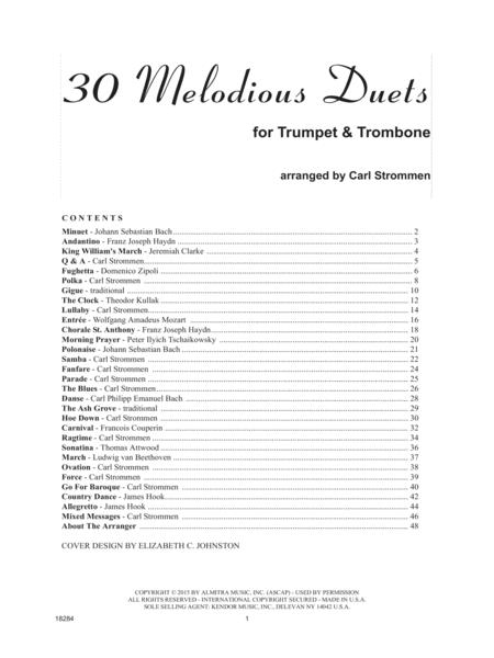 30 Melodious Duets (Trumpet & Trombone)