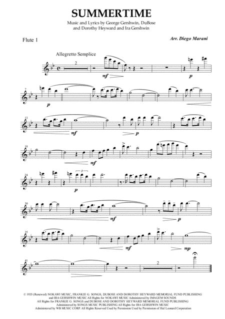 Summertime for Flute Quartet
