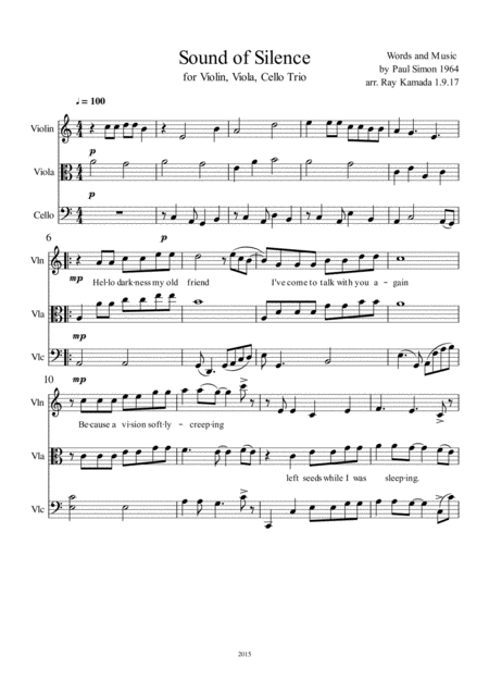 the sounds of silence sheet music pdf