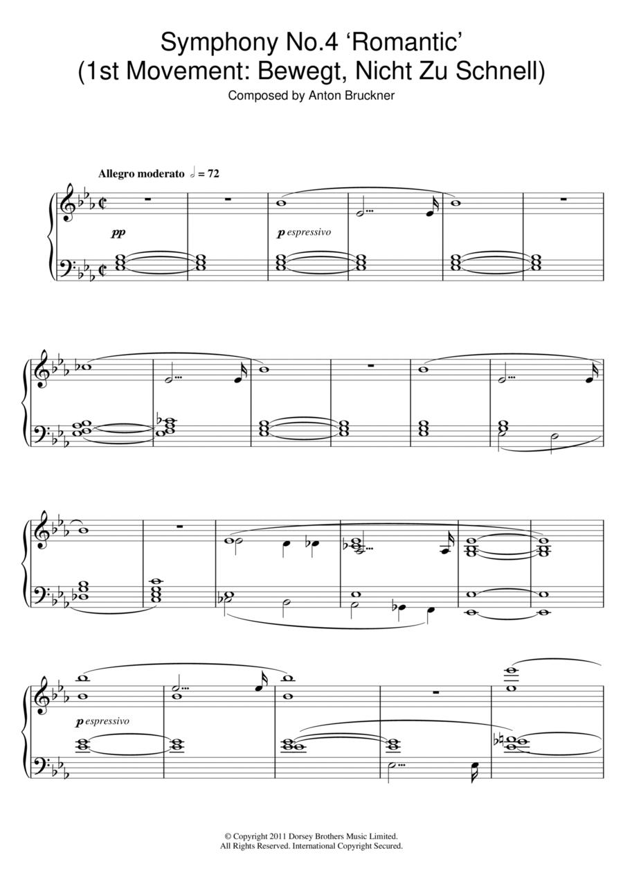 Symphony No.4 'Romantic' (1st Movement: Bewegt, Nicht Zu Schnell)