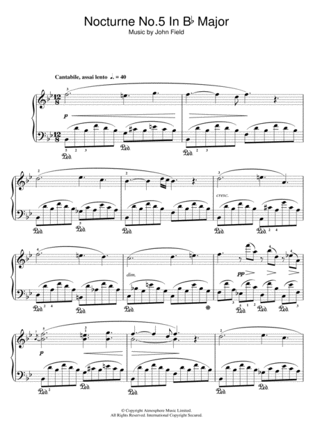 Nocturne No.5 In B Flat Major