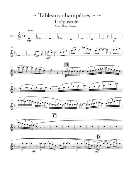 Tableaux champêtres (Crépuscule) / 6 sheet