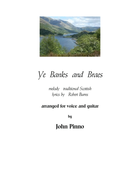 Ye Banks and Braes for voice and classical guitar