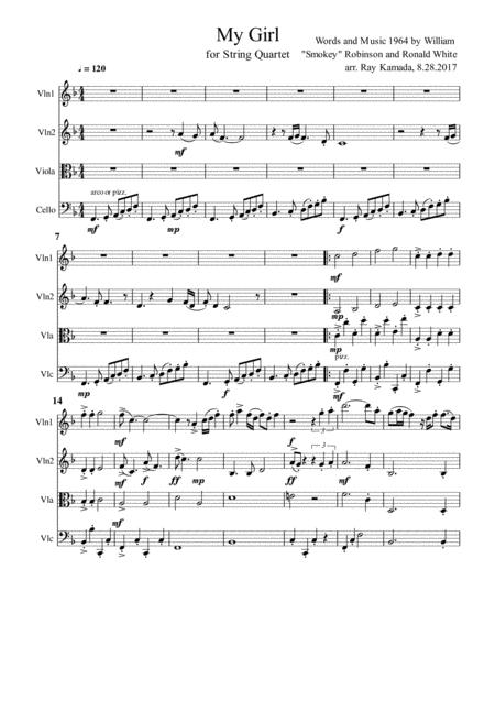 My Girl, for String Quartet