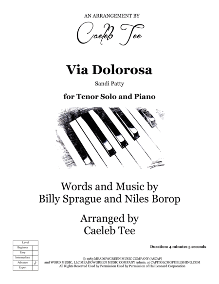 Via Dolorosa - solo voice and piano arranged by Caeleb Tee