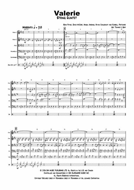 Valerie - Amy Winehouse - String Quintet