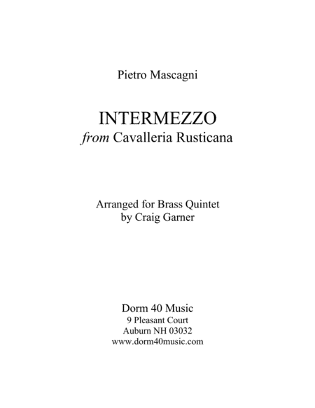 Intermezzo, from