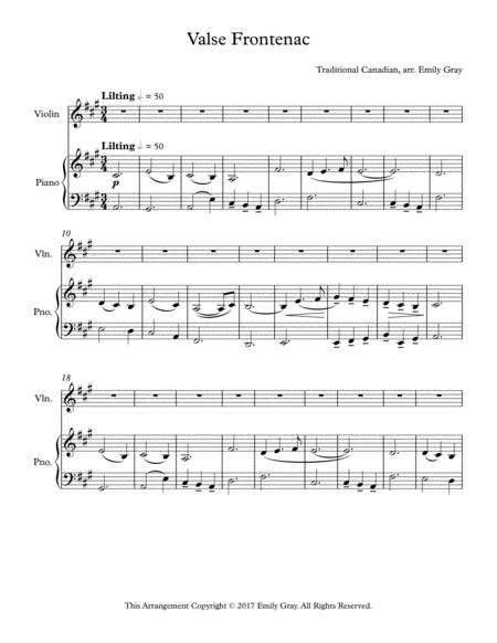 Valse Frontenac (Violin and Piano)