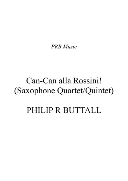 Can-Can alla Rossini (Saxophone Quartet / Quintet) - Score