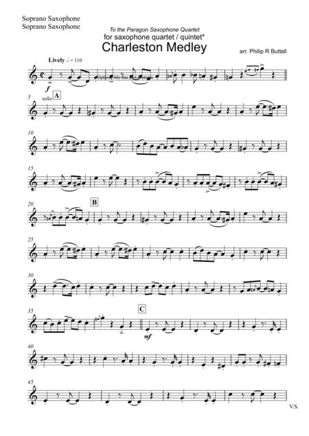 Charleston Medley (Saxophone Quartet / Quintet) - Set of Parts [x4 / 5]