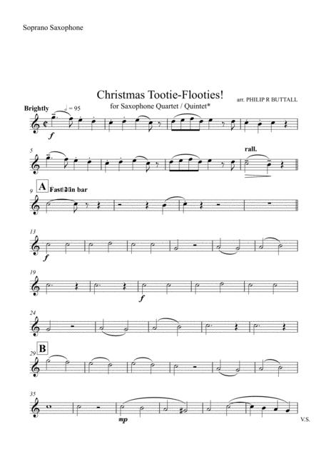 Christmas Tootie-Flooties! (Saxophone Quartet / Quintet) - Set of Parts [x4 / 5]