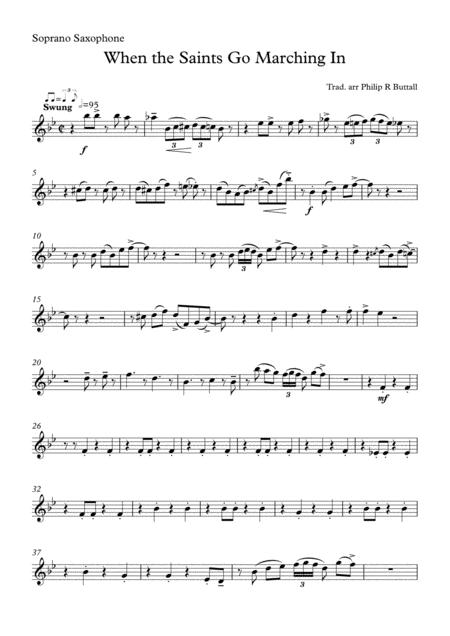 When The Saints Go Marching In (Saxophone Quartet / Quintet) - Set of Parts [x4 / 5]