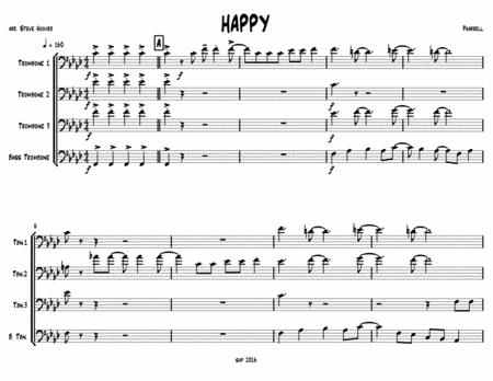Happy - for Trombone Quartet