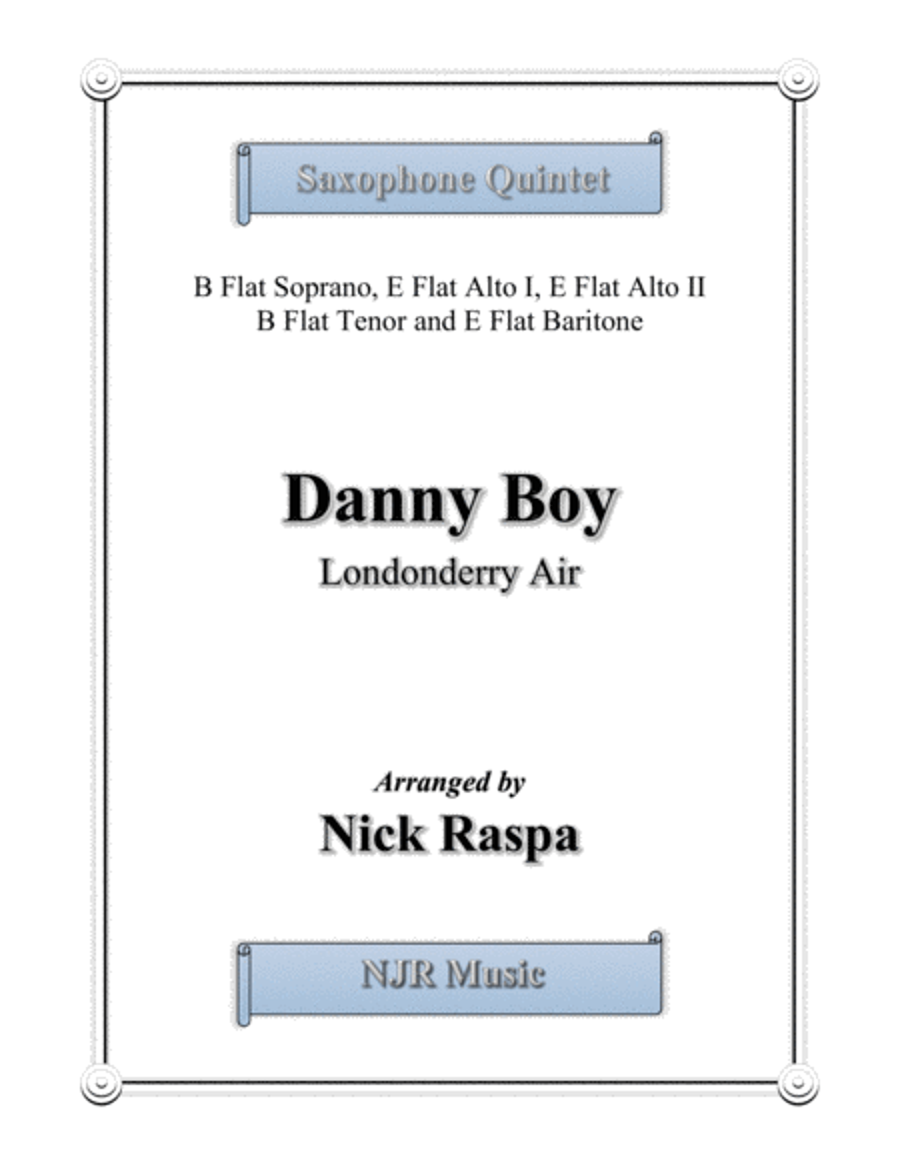 Danny Boy for Saxophone Quintet - Full Set