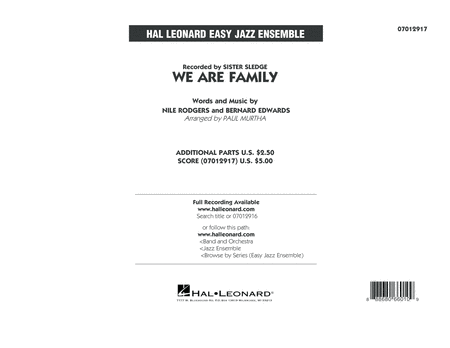 We Are Family - Conductor Score (Full Score)