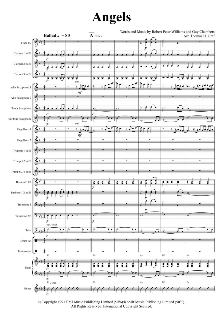 Angels (C-Major) - Robby Williams - Brass Quintet