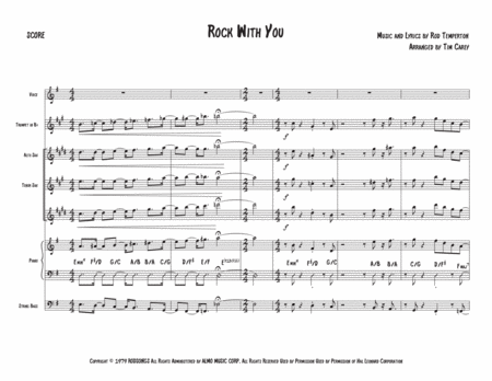 Rock With You - Advanced Jazz Combo with vocals
