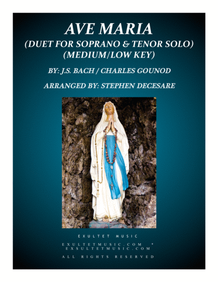 Ave Maria (Duet for Soprano and Tenor Solo - Medium/Low Key)
