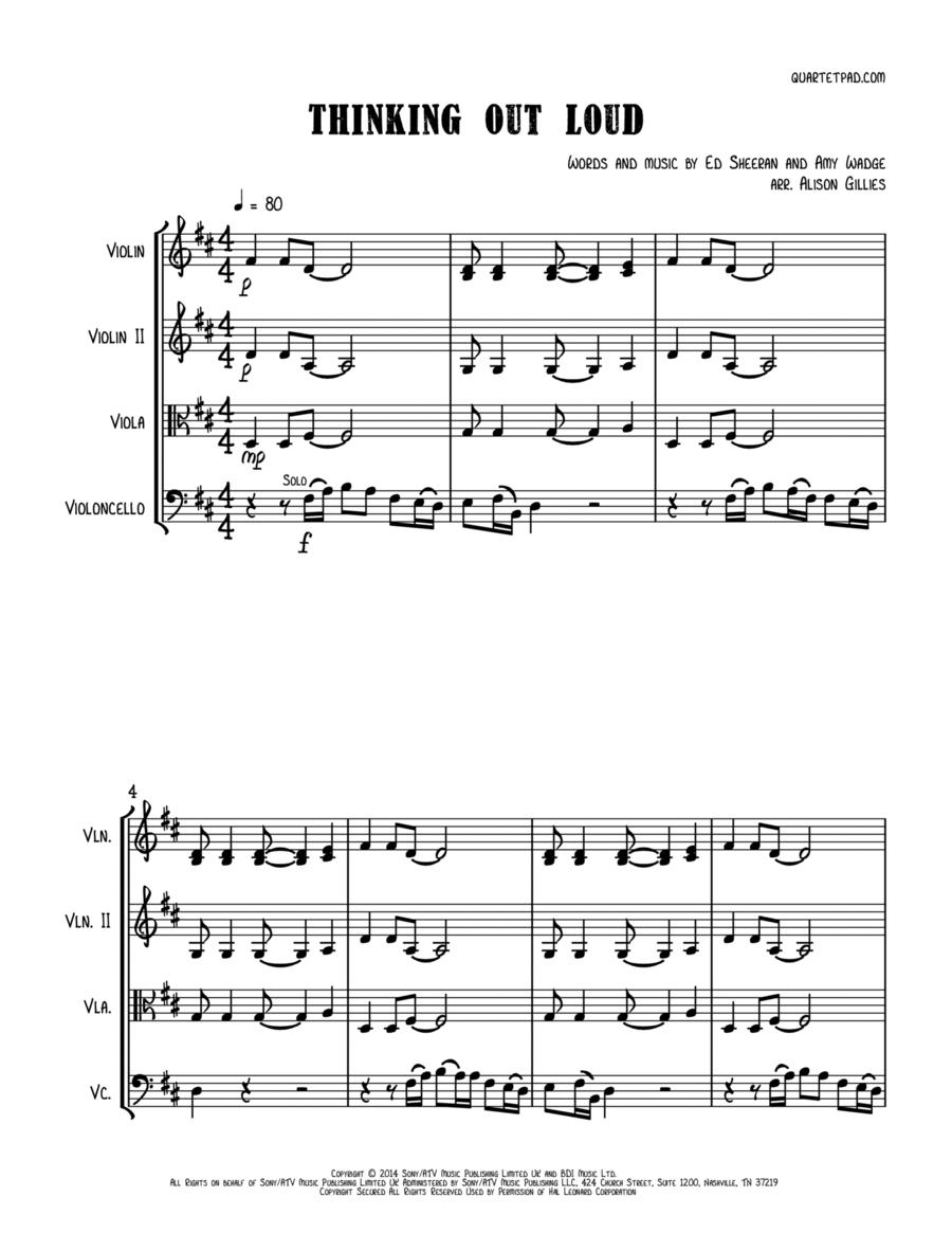 Thinking Out Loud - String Trio (vln/vla/vc)