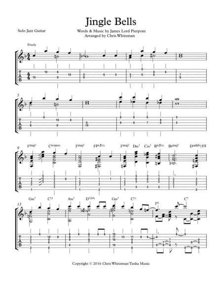 Jingle Bells - Jazz Guitar Chord Melody