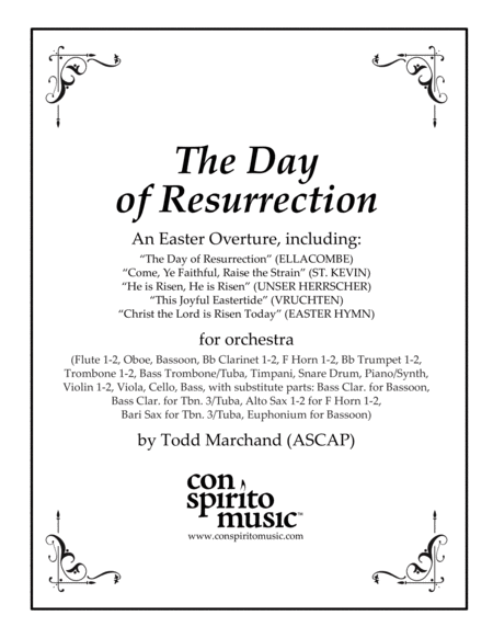 The Day of Resurrection - Easter overture for church orchestra