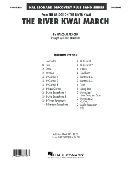 The River Kwai March - Conductor Score (Full Score)