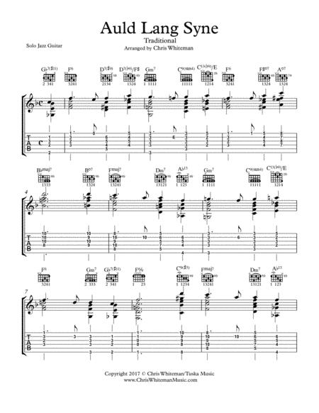 Auld Lang Syne - Jazz Guitar Chord Melody