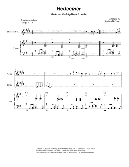 Redeemer (for Saxophone Quartet)