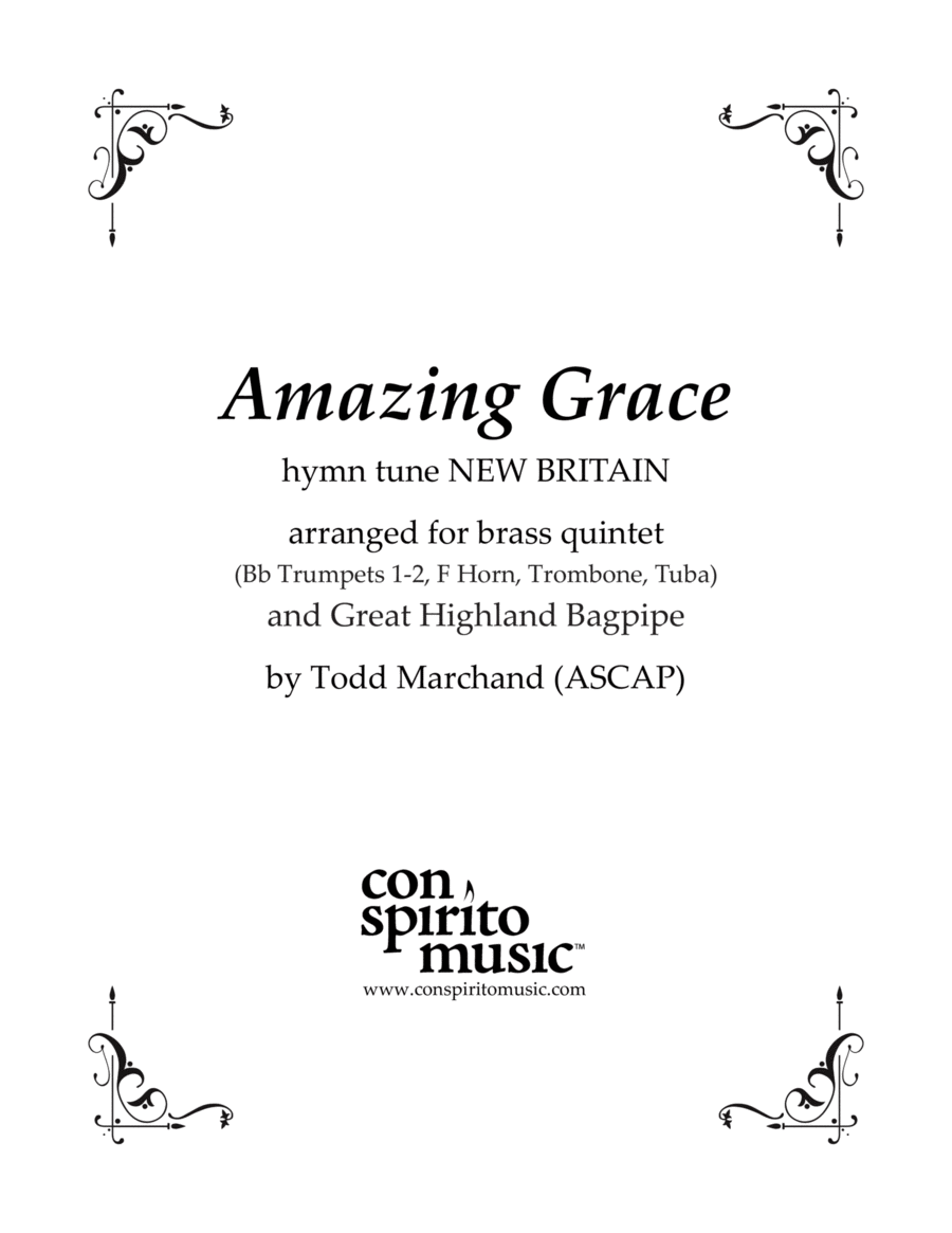 Amazing Grace - brass quintet and bagpipes